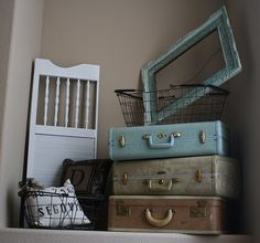 Ideas for my old suitcases