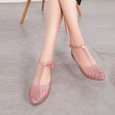 Hollow Pointed Toe Women's Jelly Shoes