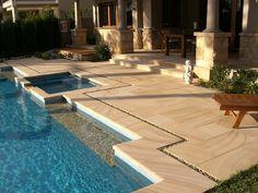 Teakwood Sandstone Pool Coping