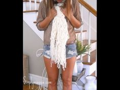 ▶ How to Arm Knit - 30 Minute Fringe Scarf - YouTube