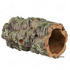 Animalerie  Tunnel en liège pour lapin nain rongeur et reptile  14-19 cm de diamètre (taille L)