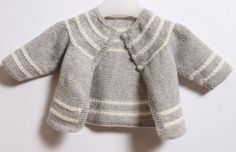 Baby Cardigan / Knitting Pattern Instructions by LittleFrenchKnits: