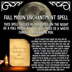 Full moon enchantment  spell