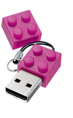 Pink Lego USB Flash Drive- 1GB by Sarut Group - Spark Living - online boutique for unique home decor, gifts and accessories $26.00