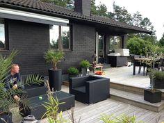 trädgård,altan,etage,utemöbler,markis