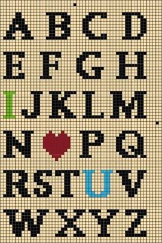 DMC Black DMC Red DMC Lime Green DMC Turquoise Finishing Instructions: Recommended finishing supplies: Muslin or fabr. Cross Stitch Alphabet Patterns, Cross Stitch Letters, Cross Stitch Art, Beaded Cross Stitch, Cross Stitch Borders, Cross Stitching, Cross Stitch Embroidery, Stitch Patterns, Alphabet Charts