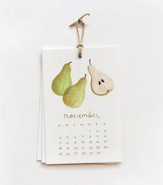 소포빌라 [Rifle paper 2012 Fruit Calendar]