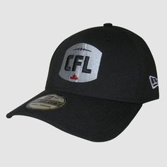"""CFL LOGO"" New Era 3930 / Casquette ""CFL"" pour homme New Era 3930.   Structured 39THIRTY Cap.  Embroidered NEW Canadian Football League logo on front. Stitched New Era flag at wearer's left side. Embroidered red maple leaf on back.  Interior includes branded taping and moisture absorbing sweatband.  Stretch fit on closed back. Canadian Football League, Baseball Hats, Flag, Logos, Interior, Red, Collection, Cap, Baseball Caps"