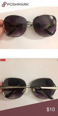 Purple/black Ombré Tinted Sunglasses Silver frame. Pre loved but still has lots of life left. Selling ONLY because I ow need prescription glasses and can't see with them. Ask questions if you have them! Accessories Sunglasses