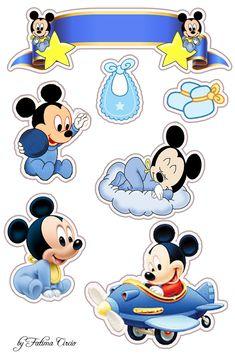 New baby cards photo 43 ideas Bolo Mickey E Minnie, Baby Mickey Mouse Cake, Festa Mickey Baby, Theme Mickey, Minnie Baby, Mickey Mouse Birthday, Mickey Minnie Mouse, Baby Birthday, Disney Mickey