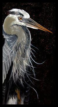 Lauren Engler Great Blue Heron by clare Bird Pictures, Pictures To Paint, Watercolor Bird, Watercolor Paintings, Bird Paintings, Watercolours, Bird Artwork, Pastel Artwork, Blue Heron