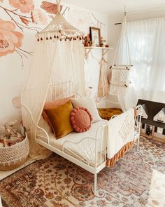 Baby Bedroom, Baby Room Decor, Bedroom Decor, Toddler Rooms, Kids Bedroom Ideas For Girls Toddler, Girl Toddler Bedroom, Kids Rooms, Big Girl Bedrooms, Kids Room Design