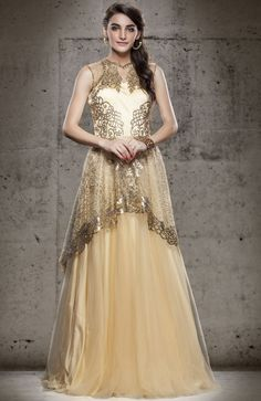 #Designer Net Readymade #Gown - #IndianDesignerGowns