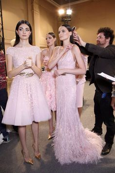 Backstage at Zuhair Murad Haute Couture Spring 2014