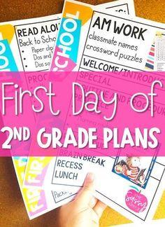 2nd Grade Activities, First Day Of School Activities, 1st Day Of School, Beginning Of The School Year, Back To School Gifts, 2nd Grade Classroom, 2nd Grade Math, Grade 2, Classroom Ideas