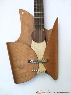 Leaf Guitar by Ezequiel Galasso, via Behance