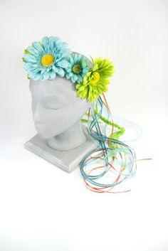 Turquoise Flower Headband