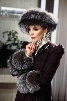 15 most iconic TV wardrobes. Alexis Colby, Dynasty.