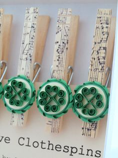 Decorative Clothespins Paper Quilled Celtic di WillawayDesigns, $14.00