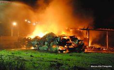 Incêndio destrói carros em centro de remoção e depósito de Itapemirim