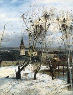 Саврасов Алексей (1830-1897) - Грачи прилетели. 1871
