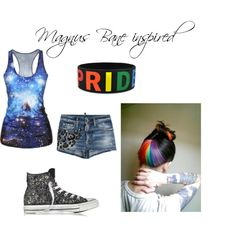 Magnus Bane hot summer outfit  by wolfie112-99 on Polyvore featuring polyvore fashion style Dsquared2 Converse My Little Pony