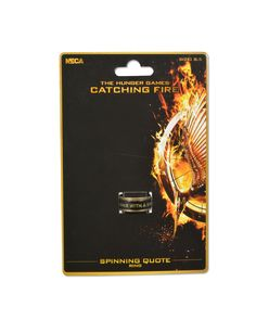 Official The Hunger Games Catching Fire Movie (Spinning Quote) Ring | eBay