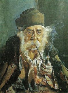 "Anders Zorn ""Skarprättaren från Siebenbürgen""   (1885). Akvarell 24 x 17 cm."