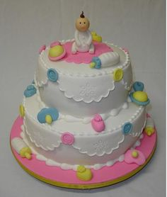 Pinterest Baby Shower Cakes | Pin Adorable Baby Shower Cake With Small Topperpng Cake on Pinterest