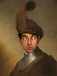Rowan Atkinson in the painting of the Renaissance
