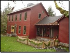 Isn't this house gorgeous? It is one of the homes featured in the fall issue of Country Sampler.