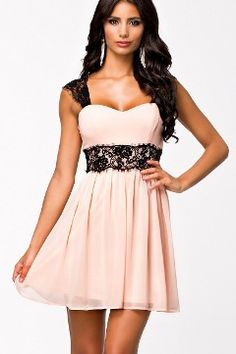 Purchase Women Summer Sexy Low-Cut Radiant Patchwork Strapless Lace Embellished Skater Dress Vestidos (Color: Pink) from on OpenSky. Sexy Lace Dress, Sexy Dresses, Cute Dresses, Short Dresses, Pink Dress, Ruffled Dresses, Ladies Dresses, Mini Dresses, Elegant Dresses