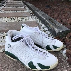 new concept b4b0a cc3ba Air Jordan Shoes   Forest Green Jordan 14   Color  Green White   Size
