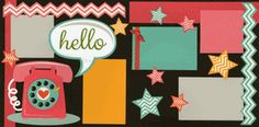 Retro Style Page ~ Made from Hello Page Kit