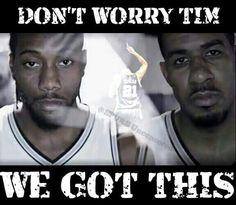 Spurs Kawhi Leonard and LaMarcus Aldridge. #GoSpursGo #SpursNation