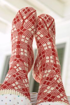Colorwork Argyle socks from Solefull Socks - a new book with an amazing new way of constructing socks.