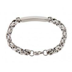 6 mm U Shaped Chain Link Titanium Steel Bracelet
