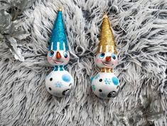 Glass Christmas Ornaments, Blown Glass, Snowman, Decor, Decoration, Dekoration, Snowmen, Inredning, Interior Decorating