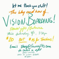 I haven't written this class yet.  That's how you know its going to be good!!! It's the New Moon the perfect time to manifest your desires and cut and paste cause you just can't say no to that.  Email the shop for your spot.  @fawngifts  Any questions lemme know!