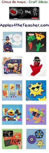 Fun cinco de mayo crafts for kids - Cinco de mayo craft ideas for children.   http://www.apples4theteacher.com/holidays/cinco-de-mayo/kids-crafts/