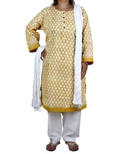 Yellow Kameez White Salwar Dupatta Indian Clothing For Women Size L ShalinIndia,http://www.amazon.com/dp/B00DXZICDG/ref=cm_sw_r_pi_dp_NMm-rb0D8CBSQC96