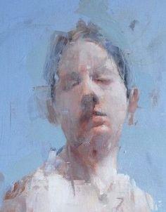 by Alex Kanevsky L'art Du Portrait, Abstract Portrait, Painting People, Figure Painting, Alex Kanevsky, Social Art, Life Drawing, Ap Drawing, Figurative Art
