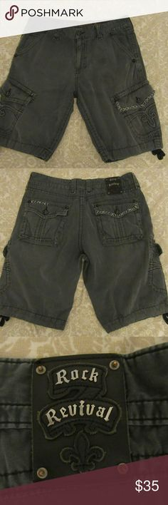 8f4fe3454d Shop Men's Rock Revival Gray size 36 Cargo at a discounted price at  Poshmark. Description: great shape mens rock revival gray shorts Sold by  Fast delivery, ...