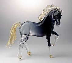glass horses | This perfectly-formed San Marco horse has been handcrafted in sublime ...