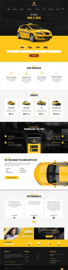 TaxiPark is clean and modern design 3in1 responsive #WordPress theme for #taxi / #cab service company website download now..