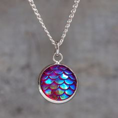 Magical Dragon Scales Necklace - Rainbow at shanalogic.com