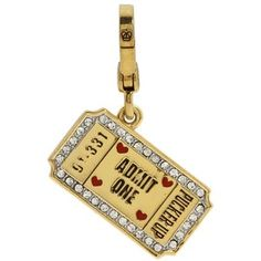 Juicy charm, kissing booth ticket charm, bought it in OK on a recent trip