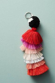 Tiered Tassel Keychain