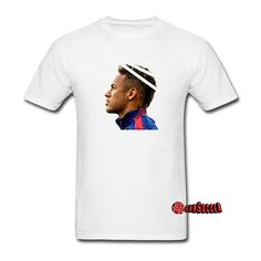 About Neymar Jr T-shirt Neymar da Silva Santos Júnior is a Brazilian professional footballer who plays as a forward for Spanish club FC Barcelona and the Brazil national team.Known for his dribbling , finishing, and ability with both feet, Neymar has earned comparisons to former Brazil and Santos fo