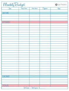 Good Use This Free Blank Monthly Budget Worksheet To Help You Find New Ways To  Save Money And Cutback On Your Spending. Did I Mention Itu0027s Free!